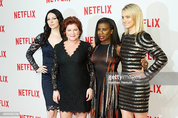 Laura Prepon Kate Mulgrew Uzo Aduba and Taylor Schilling attend the Netflix pre launch party at Komische Oper on September 16 2014 in Berlin Germany