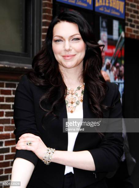 Laura Prepon leaves the 'Late Show with David Letterman' at Ed Sullivan Theater on June 10 2014 in New York City
