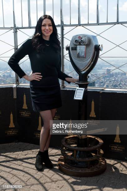 Laura Prepon of Orange Is The New Black at the Empire State Building on July 26 2019 in New York City