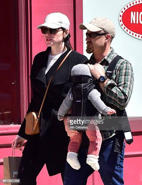 Laura PreponBen Foster are seen in Soho on April 26 2018 in New York City