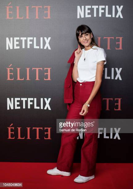 Laura Puig attends the World Premiere of Netflixs 'Elite' at Nubel on October 2 2018 in Madrid Spai