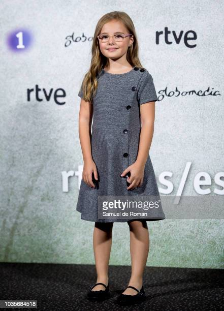 A guest attends during Estoy Vivo' Madrid Premiere on September 18 2018 in Madrid Spain