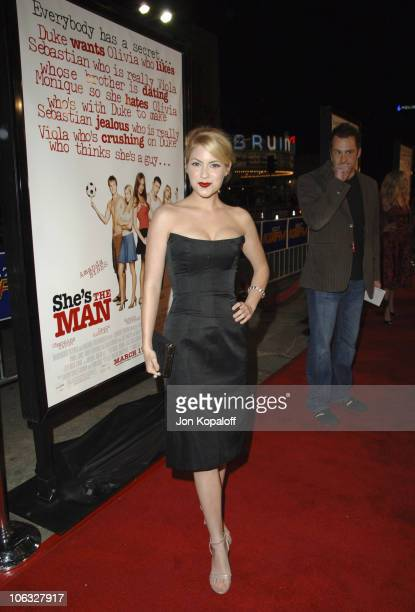 """Laura Ramsey during DreamWorks' """"She's the Man"""" Los Angeles Premiere - Red Carpet at Mann's Village in Westwood, California, United States."""