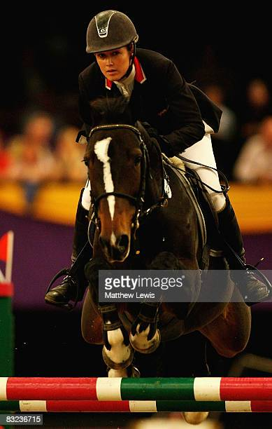 Laura Renwick of Great Britain riding Beluga on her way to taking second place in the Zinc Management Speed Horse of the Year on the final day of the...