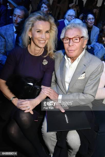 Laura Restelli and Jean Daniel Lorieux attend the Leonard Paris show as part of the Paris Fashion Week Womenswear Fall/Winter 2017/2018 at Grand...