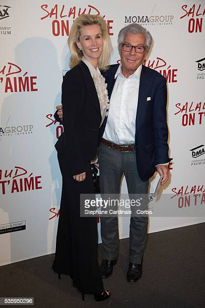 Laura Restelli and JeanDaniel Lorieux attend 'Salaud On T'Aime' Paris Premiere at Cinema UGC Normandie in Paris