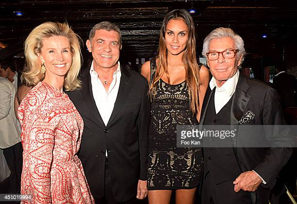 Laura Restelli Brizar Giovanni Cottone model Dani Samvis and Jean Daniel Lorieux attend 'Les Amis D'Ismail' Concert Dinner As Part Of Fete De La...