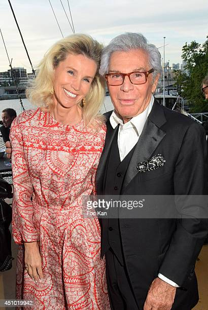 Laura Restelli Brizard and Jean Daniel Lorieux attend 'Les Amis D'Ismail' Concert Dinner As Part Of Fete De La Musique At The Old Galion Boat In...