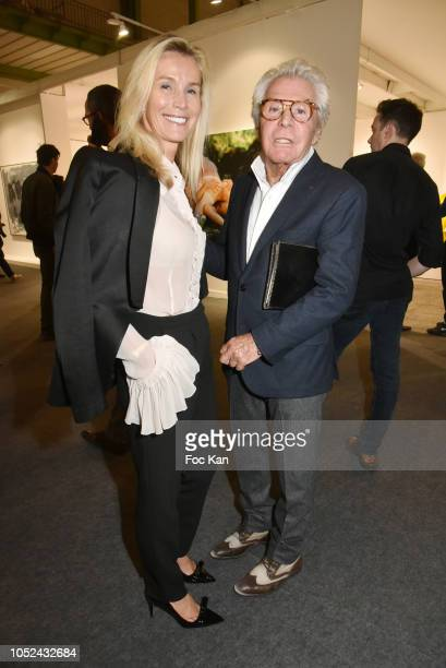 Laura RestelliÊand Jean Daniel Lorieux attend the FIAC 2018 - International Contemporary Art Fair : Press Preview At Grand Palais on October 17, 2018...
