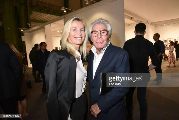 Laura RestelliÊand Jean Daniel Lorieux attends the FIAC 2018 - International Contemporary Art Fair : Press Preview At Grand Palais on October 17,...
