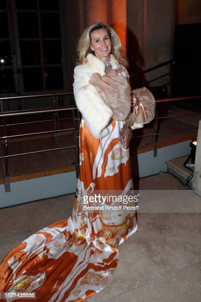 """Laura Restelli-Brizard attends the 19th Gala Evening of the """"Paris Charter Against Cancer"""" under the patronage of UNESCO and donated to the..."""