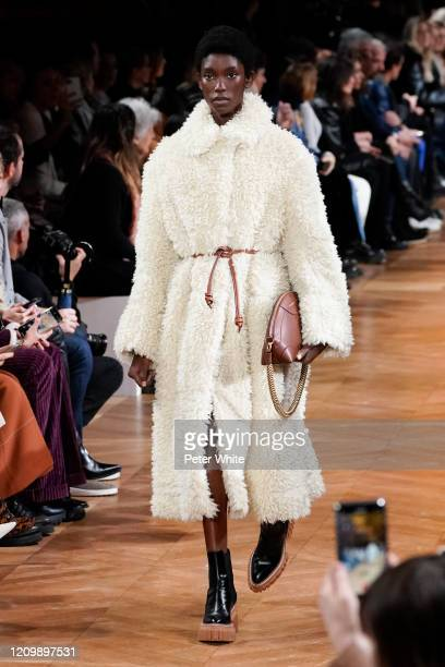Laura Reyes walks the runway during the Stella McCartney as part of the Paris Fashion Week Womenswear Fall/Winter 2020/2021 on March 02 2020 in Paris...