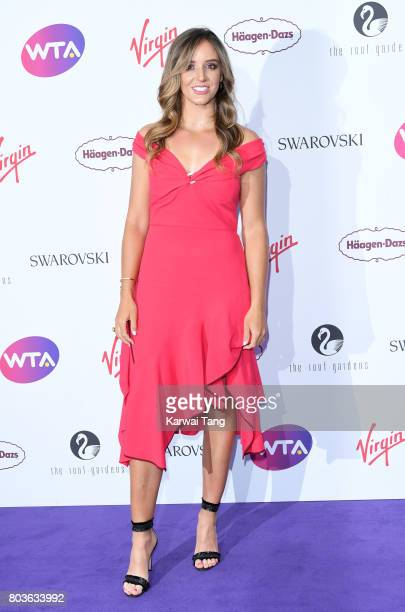 Laura Robson attends the WTA PreWimbledon party at Kensington Roof Gardens on June 29 2017 in London England