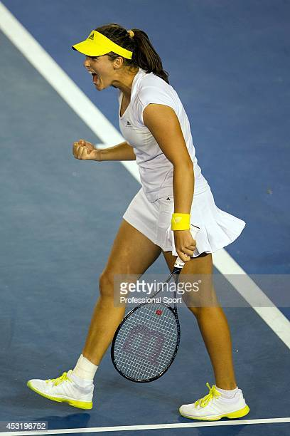 Laura Robson of Great Britain during her second round match against Petra Kvitova of Czech Republic on day four of the 2013 Australian Open at...