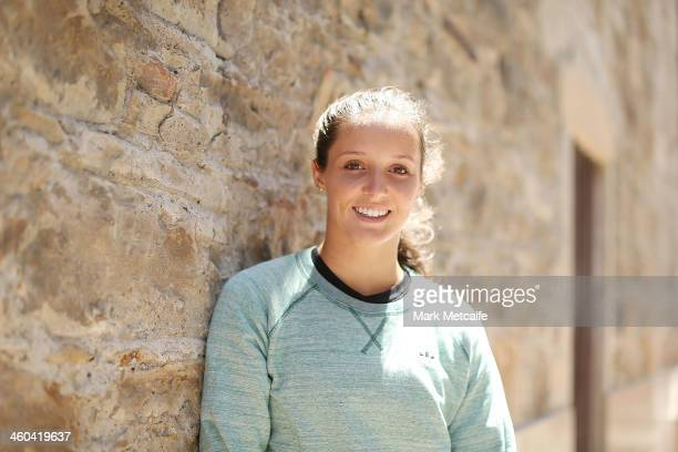 Laura Robson of of Great Britain poses for a portrait at Salamanca ahead of the Moorilla Hobart International at Domain Tennis Centre on January 4...