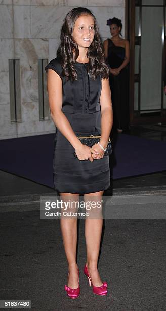 Laura Robson winner of the Wimbledon girls' title, arrives at the 2008 Wimbledon Champions Dinner on July 6, 2008 in London, England.