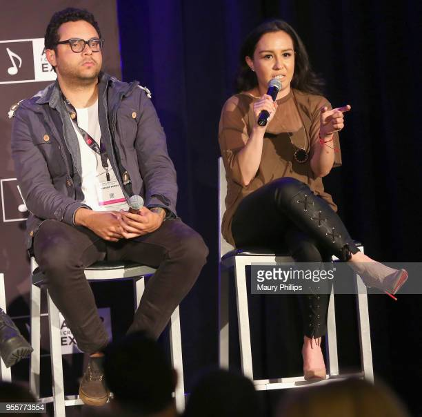 Laura Rodriguez Social Media and Digital Marketing The Recording Academy speaks on stage as Freddie MorrisDirector of Social Media Digital Marketing...