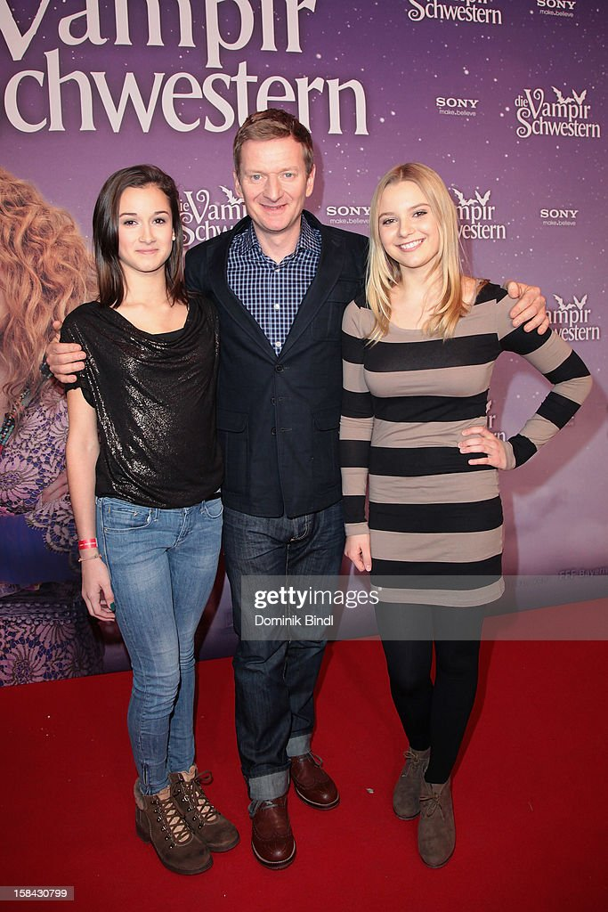 Laura Roge, Michael Kessler and Marta Martin attend the 'Die Vampirschwestern' Germany Premiere on December 16, 2012 in Munich, Germany.