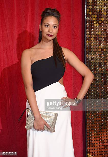 Laura Rollins arrives for the British Soap Awards 2016 at the Hackney Town Hall Assembly Rooms on May 28 2016 in London England