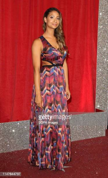 Laura Rollins arrives on the red carpet during The British Soap Awards 2019 at The Lowry Media City Salford in Manchester