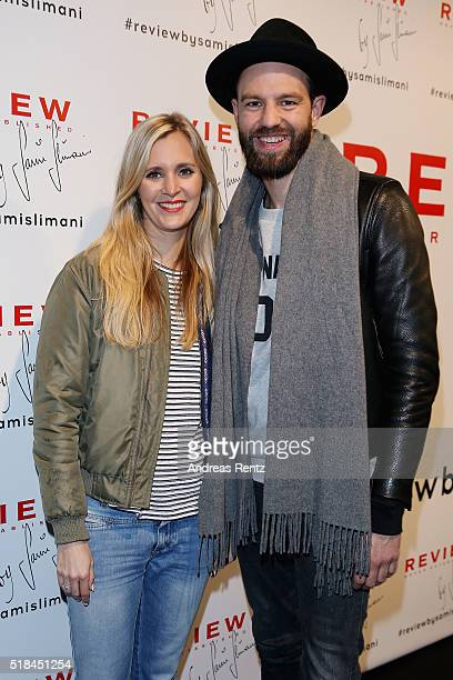 Laura Rosati and Tewe Maas attend the REVIEW by Sami Slimani Capsule Collection launch party on March 31 2016 in Duesseldorf Germany