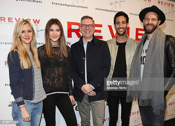 Laura Rosati Stefanie Giesinger Jesper Reismann Sami Slimani and Tewe Maas attend the REVIEW by Sami Slimani Capsule Collection launch party on March...