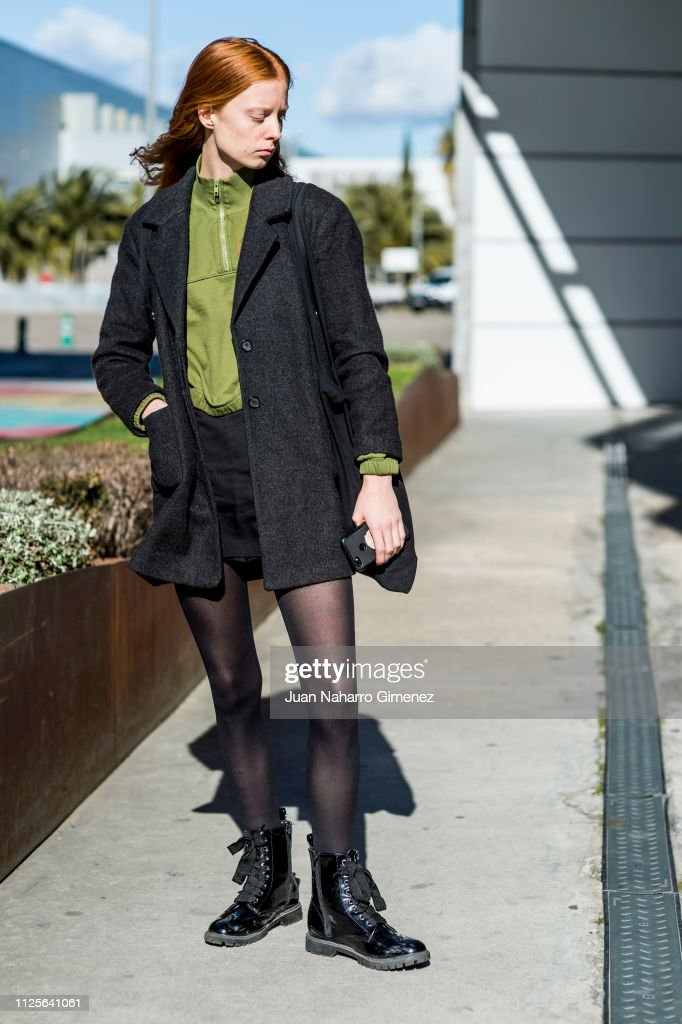 Laura Roth Wears Omg Shoes Weekday Skirt And Shirt During The