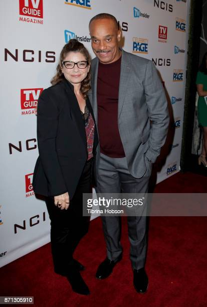 Laura San Giacomo and Rocky Carroll attend TV Guide Magazine's and CBS's celebration of Mark Harmon and 15 seasons of NCIS at Sportsmen's Lodge Event...