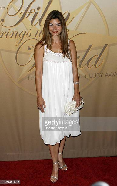 Laura San Giacomo in MaxMara during Women in Film 2006 Crystal Lucy Awards sponsored by MaxMara at Century Plaza Hotel in Los Angeles California...
