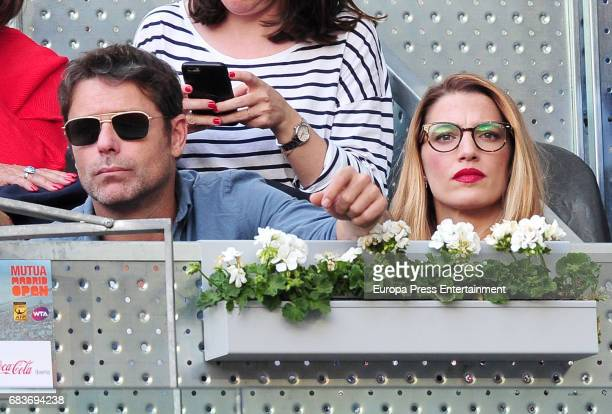 Laura Sanchez and David Ascanio attend Mutua Madrid Open tennis at La Caja Magica on May 14 2017 in Madrid Spain