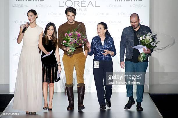 laura Sanchez Antonio Navas Cuca Solana and Juan Duyos attend L'Oreal Award during Mercedes Benz Fashion Week Madrid Fall/Winter 2013/14 at Ifema on...