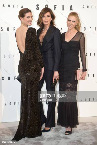 Laura Sanchez Nieves Alvarez and Judit Masco attend Sofia Hotel inaguration on February 22 2018 in Barcelona Spain