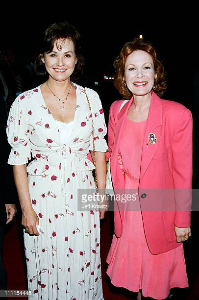 Laura Sanders and Linda Henning during 1996 MTV's Launch Party for TV Land at Paramount Pictures in Los Angeles California United States