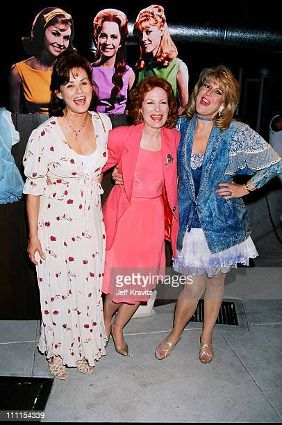 Laura Sanders Linda Henning and Meredith MacRae during 1996 MTV's Launch Party for TV Land at Paramount Pictures in Los Angeles California United...