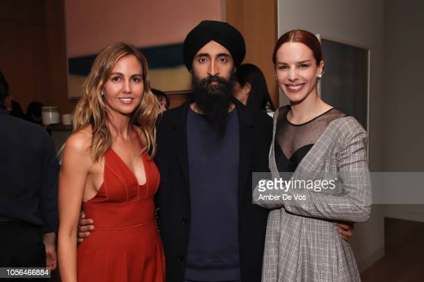 Laura Santos, Waris Ahluwalia and Eglantina Zingg attend GOLEADORAS Celebrates United Nations Global Goals World Cup Winners at Private Residence on...