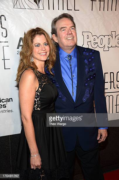 Laura Savini and Jimmy Webb attend the Songwriters Hall of Fame 44th Annual Induction and Awards Dinner at the New York Marriott Marquis on June 13...