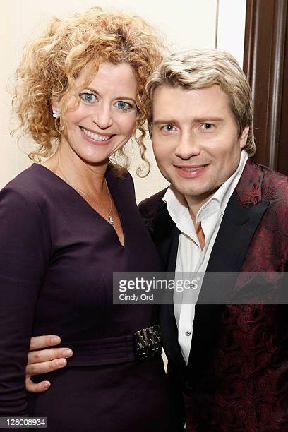 Laura Savini and Nikolai Baskov attend Nikolai Baskov American Debut Album Romantic Journey Release Party on October 4 2011 in New York United States