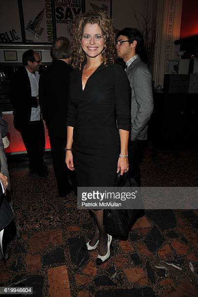 Laura Savini attends PUBLIC THEATER 10th Anniversary at Public Theater NYC on October 10 2008