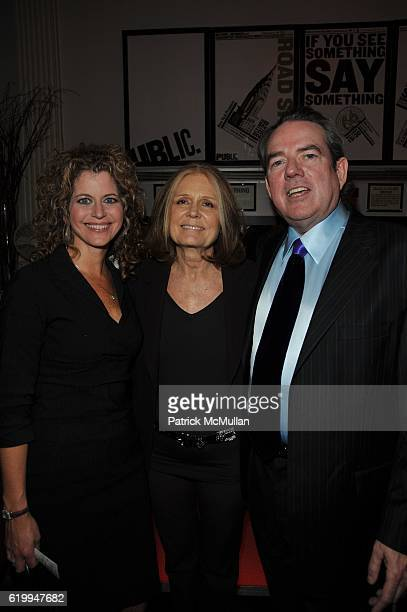 Laura Savini Gloria Steinem and Jimmy Webb attend PUBLIC THEATER 10th Anniversary at Public Theater NYC on October 10 2008