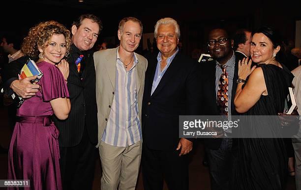 Laura Savini musician Jimmy Webb tennis player John McEnroe Chairman and CEO Of Sony/ATV Music Publishing LLC Martin Bandier Randy Jackson and Patty...