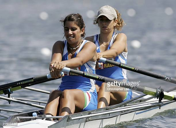Laura Schiavone and Carlotta Baratto of Italy in action during the Senior B Women's Double Sculls during the FISA Under 23 World Rowing Championships...