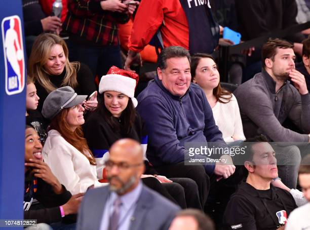 Laura Schirripa Bria Schirripa Steve Schirripa and Ciara Schirripa attend Milwaukee Bucks v New York Knicks game at Madison Square Garden on December...