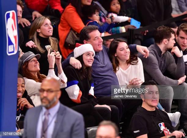 Laura Schirripa Bria Schirripa Steve Schirripa and Ciara Schirripa attend Milwaukee Bucks v New York Knicks game at Madison Square Garden on December...