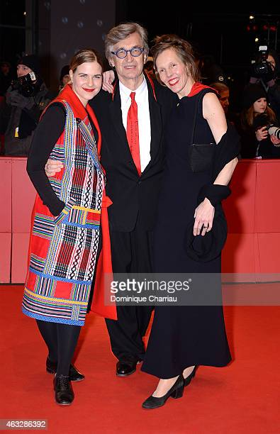 Laura Schmidt , director Wim Wenders and wife Donata Wenders attend the 'The American Friend' screening during the 65th Berlinale International Film...
