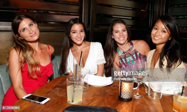 Laura Schreffler Julianna Medina Ashley Fern and Dianne Quirante attend the Haute Living Celebrates Jada Pinkett Smith with Armand de Brignac event...