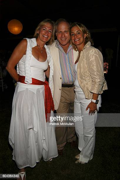 Laura Scott Phil Witt and Toni Haber attend 2nd Annual Red Cross Ball at Carole and Todd Rome Residence on August 19 2006 in Southampton NY