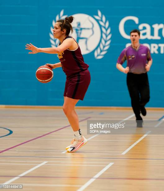 Laura Shanahan seen in action during the Women's British Basketball League match between WBBL Cardiff Archers and Newcastle Eagles at Cardiff Archers...
