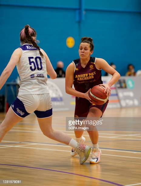 Laura Shanahan seen in action during the Women's British Basketball League match between WBBL Cardiff Archers and Caledonia Pride at Cardiff Archers...
