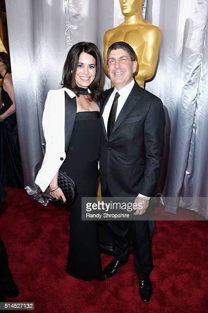 Laura Shell and Chairman Universal Filmed Entertainment Group Jeff Shell attend the 88th Annual Academy Awards at Hollywood Highland Center on...