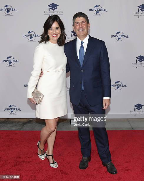 Laura Shell and Jeff Shell attend the 22nd Fulfillment Fund Stars Benefit Gala Arrivals at The Globe Theatre at Universal Studios on November 2 2016...